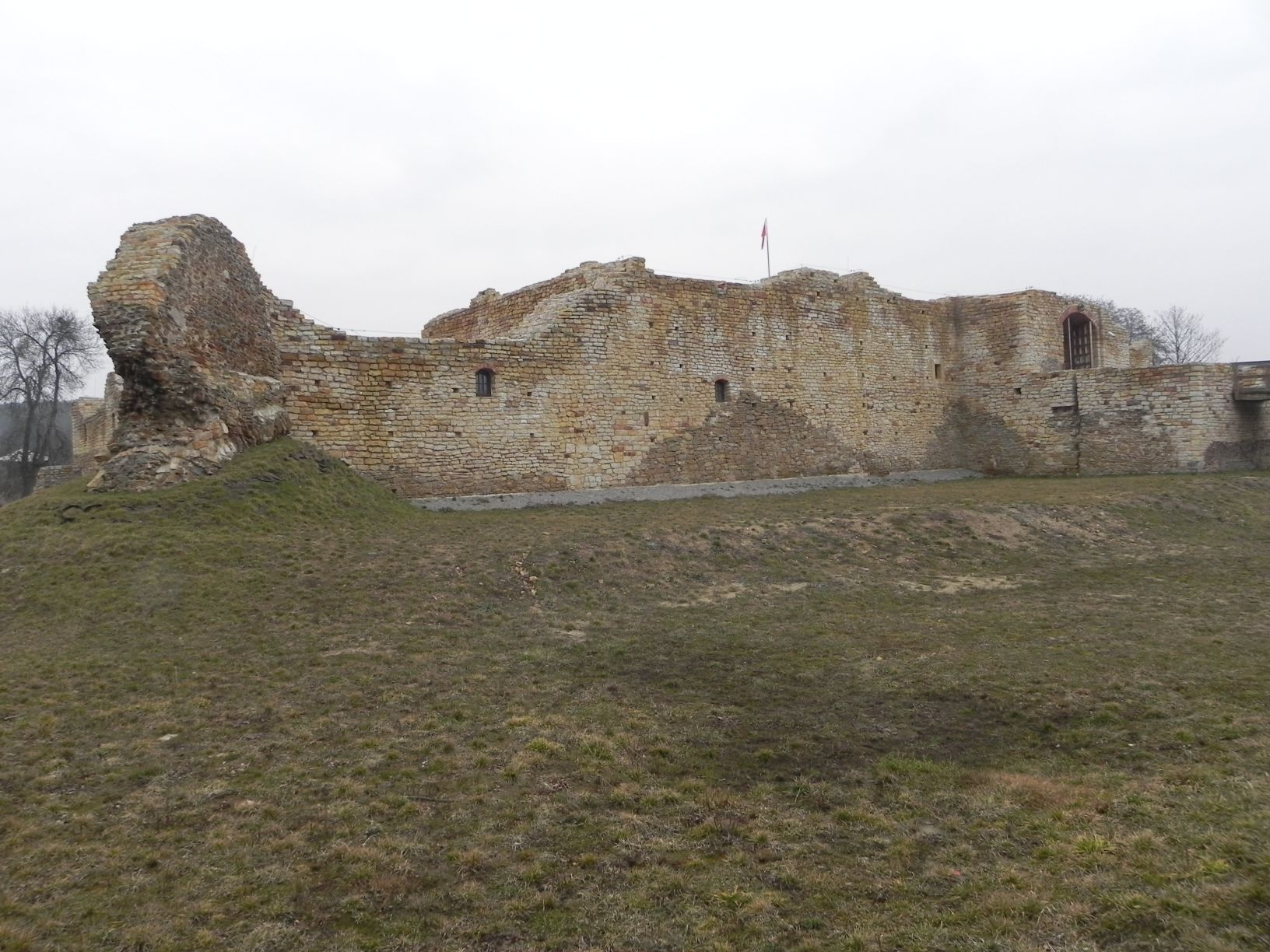 2014-01-05 Inowłódz - Ruiny zamku (16)