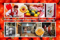 Widokówka Sochowej Zagrody i Wioski Pomidorowej z Sierzchów