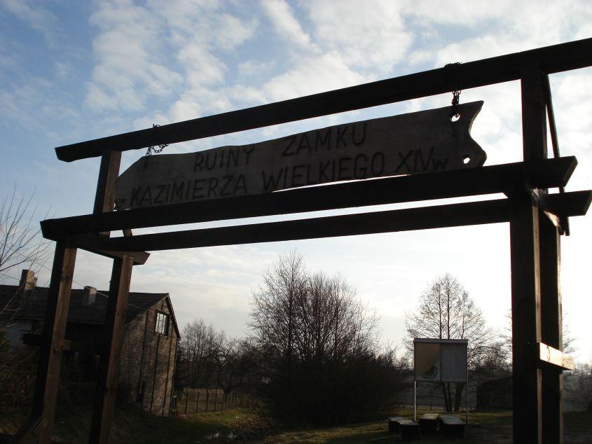 2007-02-06 Inowłódz - ruiny zamku (1)