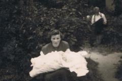 1951-06 Łódź - Kazimiera Kosiacka i Andrzej Kosiacki - chrzciny