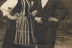 1916r. Mroczkowice - Zofia Dzika i Antoni Jędras