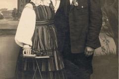 1918r. Mroczkowice - Helena Dzika i Jan Wieteska małżeństwo