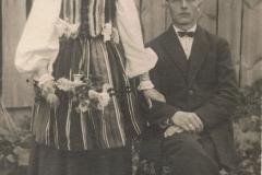 1920r. Mroczkowice - Jadwiga Dzika i Franciszek Kowalczyk z Kanic