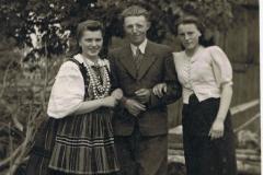 1940r Sierzchowy - córka dużej pani, Jan Dziki, Maria Dzika