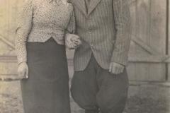 1940r. Sierzchowy - Julia i Feliks Jędras