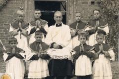 1961r. Sierzchowy - Bogusław Król, Janek Król, Stasiek Kacprzak, Zbyszek Dziki