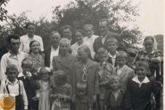 1962.08.06 -Sierzchowy - odpust, rodziny Cymermanów, Krawczyków i Królów z dziećmi