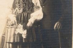 1930r. Gortatowice - Franciszek Kośka z żoną Małgorzatą