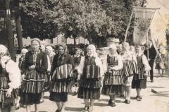 1960r. Rzeczyca - Procesja w strojach ludowych