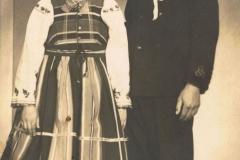 1940r. Antoni Łopatka i Zofia Kuba ze Złotej