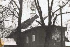 1958r. Wysokienice - Kościół drewniany