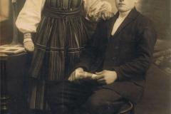 1930r. Gortatowice - Józef Lasota z żoną