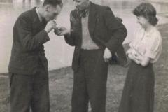 1943r. Sierzchowy - Jan Doliński, jan Cymerman, Irena Cymerman z d. Ponewczyńska