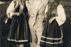 1950r. Złota - Marysia Antosik, Rozalia Łopatka i Józef Kuba