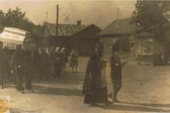 1953r. Wysokienice - Kondukt pogrzebowy