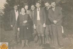 1940r. Zawady - goście weselni