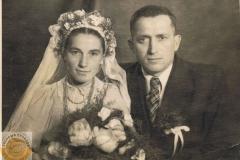 1940r. Zuzanna Śliwka i Andrzej Dyśko ze Złotej
