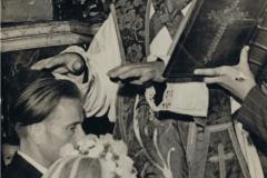 1950r. Wysokienice - Zofia Lach i Józef Łopatka