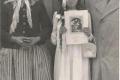 1958r. Jelenia Góra - Chrzestna Rozalia z Gienią i chrzestnym