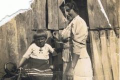 1938r. Chorzęcin - Barbara Ogórek i kramarka