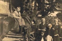 1938r. Chorzęcin - Marianna Ogórek, Barbara Smyczek, Łucja Przybysz, Aniela Przybysz