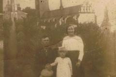 1939r. Częstochowa - Marianna i Jan Ogórek, Barbara Ogórek córka