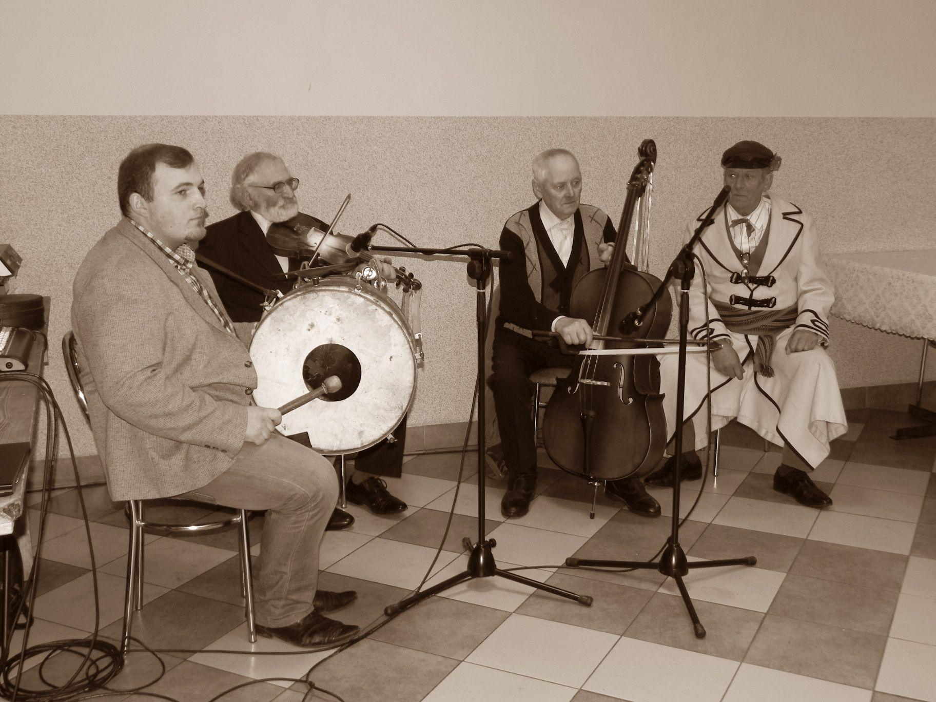 2016-02-06 Sierzchowy - Jacek Szczur, Janek Kępa, Franciszek Miniak i Ignacy Sputowski